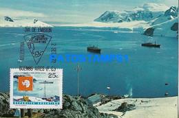 160493 ARGENTINA ANTARTIDA ANTARCTICA BASE ALMIRANTE BROWN 1972 SHIP POSTAL POSTCARD - Argentine