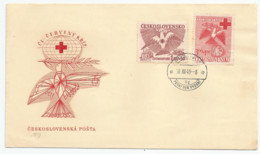 Série Tchécoslovaque Surenv. 1er Jour Non-adressée  (1949) - Red Cross