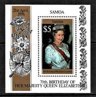 Samoa 1996 Queen Elizabeth 70th Birthday $5 Minisheet MNH - Samoa