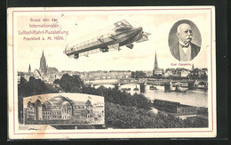 AK Frankfurt A. Main, Internationale Luftschiffahrt-Ausstellung 1909, Panorama, Festhalle Und Zeppelin - Exhibitions