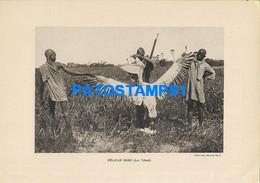 160555 AFRICA LAC TCHAD COSTUMES NATIVE HUNTER PELICAN ROSE 22 X 15.5 PHOTO NO POSTCARD - Ohne Zuordnung