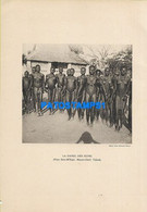 160558 AFRICA TCHAD MOYEN CHARI COSTUMES NATIVE SEMI NUDE DANCER 22 X 15.5 PHOTO NO POSTCARD - Ohne Zuordnung