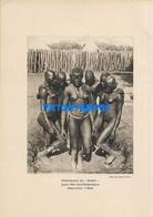 160561 AFRICA TCHAD MOYEN CHARI COSTUMES NATIVE NUDE 22 X 15.5 PHOTO NO POSTCARD - Ohne Zuordnung