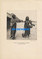 160562 AFRICA TCHAD COSTUMES NATIVE BUTTER MERCHANT 22 X 15.5 PHOTO NO POSTCARD - Ohne Zuordnung