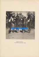 160563 AFRICA TCHAD MOYEN CHARI COSTUMES NATIVE & HUNTER COAT MONKEYS  22 X 15.5 PHOTO NO POSTCARD - Ohne Zuordnung