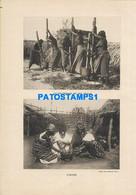 160564 AFRICA TCHAD COSTUMES NATIVE PILING MILK ACID MULTI VIEW 22 X 15.5 PHOTO NO POSTCARD - Ohne Zuordnung
