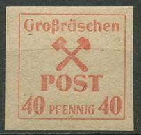 Großräschen 1945 Freimarke Graues, Kartonähnliches Papier 41 Y Postfrisch - Ohne Zuordnung
