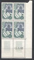 Edition Et Reliure  Yv 971 Coin Daté 2.5.55  * - 1950-1959