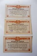 Lot 3 Documents : Banque De France - Certificat De Versement Or Pour La Défense Nationale - 1915 - Unclassified