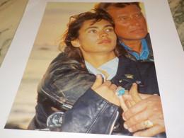 PHOTO  JOHNNY HALLYDAY ET ADELINE 1989 - Unclassified