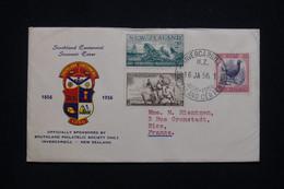 NOUVELLE ZÉLANDE - Enveloppe Souvenir Du Centenaire En 1956 Pour La France - L 98069 - Briefe U. Dokumente