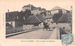 Pont Et Château De ROCHEFORT - Environs De Culoz - Attelage De Cheval - Philatélie Cachet Ambulant Ondulé Genève à Macon - Autres Communes