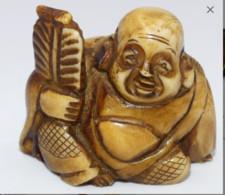 """Netsuké En Os Representant """" Bouddha """" - Art Asiatique"""