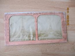 Photo Stereo Tour Eiffel Contre La Lumiere - Stereoscopio