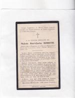 : OORLOGSVLUCHTELING PLOEGSTEERT H.DONDEYNE °KEMMEL 1863 +1918 SURVILLE (Frankrijk) - Devotieprenten