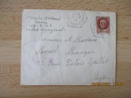 Saint Martin Daubaud Creuse  Recette Auxiliaire Cachet Hexagonal Lettre - 1921-1960: Periodo Moderno