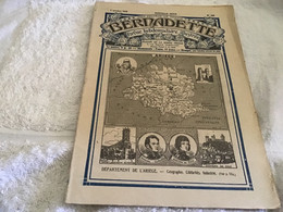 Bernadette Rare Revue Hebdomadaire Illustrée  Paris 1929 Ariège    Géographie Industrie Célébrités - Bernadette