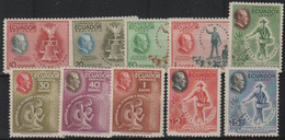 ECUADOR - 1948  Franklin D. Roosevelt. Scott 509-513, C193-197. Mint Light Hinge - Ecuador