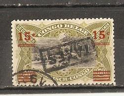Congo Belge 1921 - Mols - Timbre Taxe 55° - Griffe Taxes Renversée - 1894-1923 Mols: Used