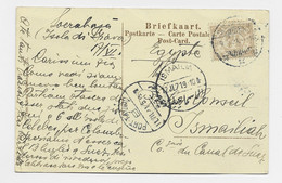 NED INDIE 7 1/2C SOLO POST CARD SOERAHAIA 1919 TO EGYPTE - Indie Olandesi