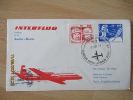 Aviation  Premiere Liaison Aerienne Interflug Berlin Beirut  1 Er Vol - Flugzeuge