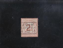 2 1/2 SUR 2 1/2 G BRUN ROUGE OBLITéRé N° 28 YVERT ET TELLIER 1874 - Oblitérés