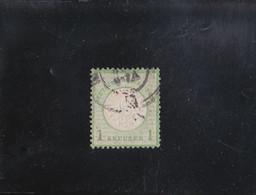 AIGLE EN RELIEF GROS ECUSSON  1 K VERT-JAUNE OBLITéRé N° 20 YVERT ET TELLIER 1872 - Oblitérés