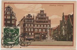 Litho Lüneburg, Schütting 1922 Mit Vorderseitiger Infla-Frankatur Reich Michel 137 I - Lüneburg