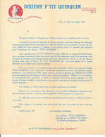 Courrier Publicitaire: Dixième P'tit Quinquin, Nouveau Fétiche De La Loterie Nationale 1941 - Crédit Du Nord - Lottery Tickets