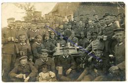 Allemande  Carte Photo - Garde Regiment Wavrin Frankreich Enfants Bier Krug 1-2 - Guerre14-18 WWI 1.WK - 1914-18