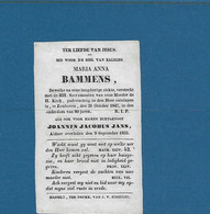 Zonhoven Doodsprentje Van Maria Anna Bammens  1847 En Joannes Jacobus Jans 1835 , Hasseld Druk. Finoulst - Religion & Esotericism