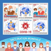 CENTRAL AFRICA 2021 - COVID19 Vaccination. Official Issue [CA210236] - República Centroafricana