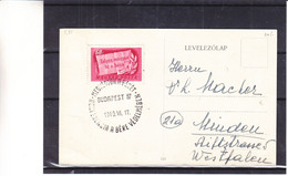 Hongrie - Carte Postale De 1949 - Oblit Budapest - Vue Monument Millennium - Briefe U. Dokumente