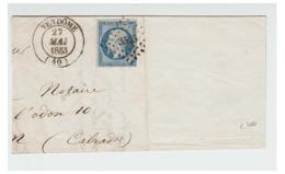 FRANCE --Yvert N° 10 Sur Grand Fragment -- T à D De VENDÔME 27 MAI 1853 -- - 1852 Louis-Napoléon
