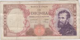 Italie - Billet De 10000 Lire - Michelangelo - 4 Janvier 1968 - P97d - 10000 Lire