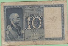Italie - Billet De 10 Lire - Vittorio-Emmanuele III - 20 Juin 1935 - P25a - Italia – 10 Lire