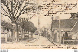 D37  NEUILLÉ PONT PIERRE  Le Mail Le Clocher   ..... - Neuillé-Pont-Pierre