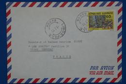 S21 GABON   BELLE LETTRE   1977 LIBREVILLE POUR GEMOZAC +AFFRANCHISSEMENT PLAISANT - Gabon