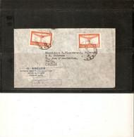 ARGENTINE . LETTRE PAR AVION 1947 POUR FRANCE . 2 TIMBRES N° PA 20 . TAMPON VIA B.S.A.A.( British South American Airway) - Storia Postale