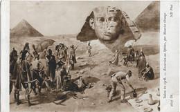 """CPA - Salon De 1908 - Maurice Orange -""""Excursion Au Sphinx"""" - Ausstellungen"""