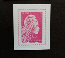 France Autoadhesif Neuf**.n 1656 A . Marianne L Engagee Rose - Luchtpost