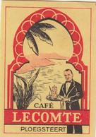 Café Lecomte Ploegsteert  - Etiquette Allumette Matchbox Label 1960 - Matchbox Labels