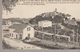 C.P. A. - SAINT PAUL DU VAR - LE TRAMWAY ET LA ROUTE DE PASSE PREST - RAYNARD - TRAIN - Other Municipalities