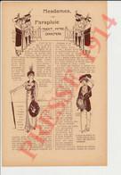 2 Vues Parapluies Dames 1914 Humour Parapluie Mode Féminine + Maladies Du Coeur Docteur Noblet Paris 249/15 - Unclassified