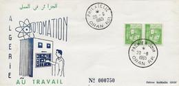 Algérie FDC YT 390A Automation Oran 20/06/65 - Algeria (1962-...)