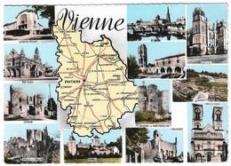 86 Carte Du Département De La Vienne (Carte Vierge) - Non Classificati