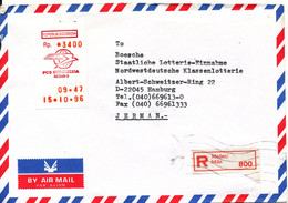 Indonesia Registered Air Mail Cover With Meter Cancel Sent To Germany 15-10-1996 - Indonesia