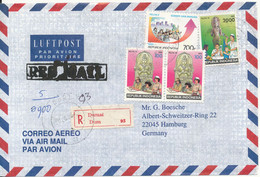 Indonesia Registered  Air Mail Cover Sent To Germany Topic Stamps - Indonesia