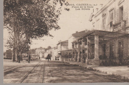 C.P. A. - CAGNES - PLACE DE LA GARE - LES HOTELS - 3902 - GILETTA - Cagnes-sur-Mer