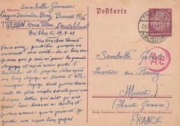 Carte Entier Postal STO Lager Daimler Benz TREBBIN Allemagne 29/8/1943 à Muret Haute Garonne - Historical Documents